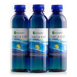 Nutraceutica Omega-3 HP natural lemon Výhodné balenie